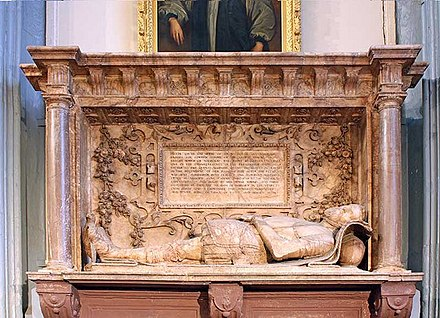 Throckmorton's monument in St Katharine Cree parish church, London St Katharine Cree, Leadenhall Street, London EC3 - Monument - geograph.org.uk - 1085139.jpg