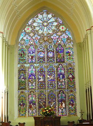 St Michael's Church, Aigburth - Image: St Michael's east window Aigburth