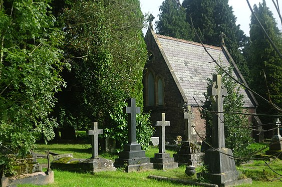 St Woolos Cemetery Crosses and Chapel.jpg