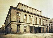 Das neue Theater an der Dammtorstraße, Fotografie um 1865 (Quelle: Wikimedia)