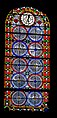 Stained glass window in Notre-Dame-de-la-Nativite Church of Cenac 06.jpg