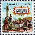 Stamp of Brazil - 1982 - Colnect 261410 - 450 years São Vicente - SP Foundation.jpeg