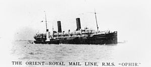 RMS Ophir - Image: State Lib Qld 1 64003 Ophir (ship)