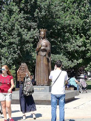 Princess Milica of Serbia - Statue of Princess Milica in Trstenik