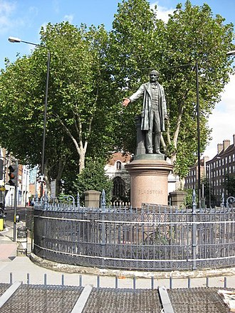 Bow Church - The Gladstone statue at Bow Church