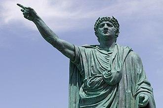 Anzio - Statue of Nero in Anzio by Claudio Valenti (2010).