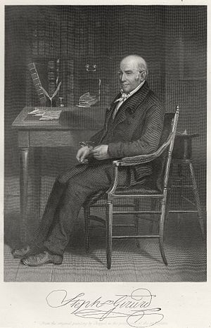 Stephen Girard - Steel engraving of Stephen Girard by Alonzo Chappel