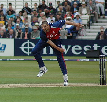 Steve Harmison in action at the Oval for Engla...