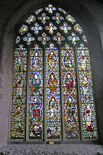 St Laurence's Church, Ludlow - St Laurence's Church: one of the large stained glass windows
