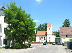 Center of Stockdorf with the Church of Saint Vitus