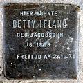 Stumbling block for Betty Ifland (Pantaleonstraße 18)