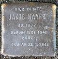 Stumbling block for Jakob Mayer (Poststrasse 17)