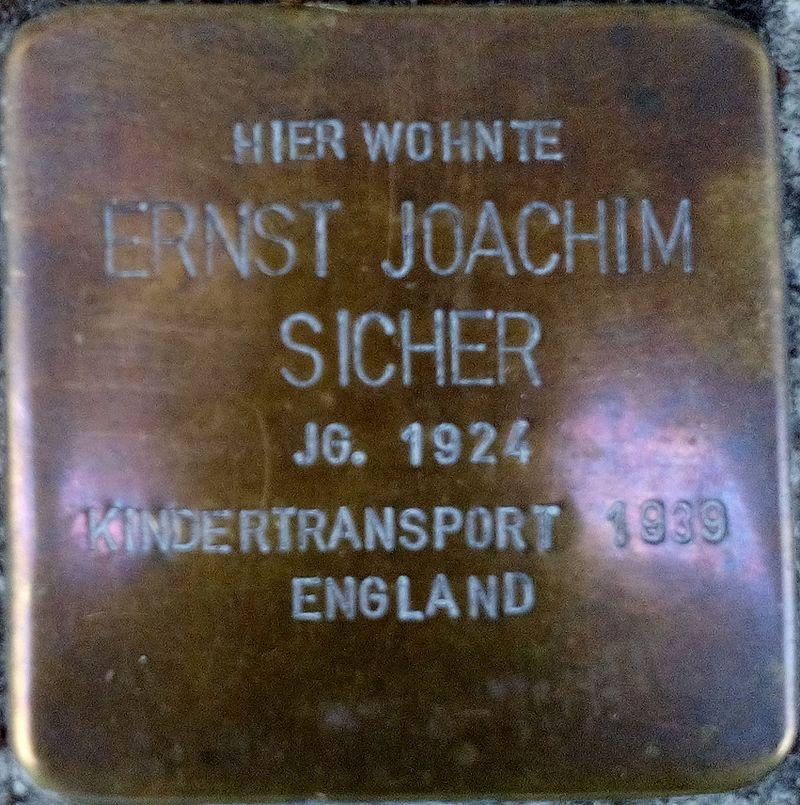 Stolperstein ERNST JOACHIM SICHER.jpg