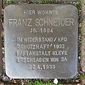 Stolperstein Goch Blumenplatz 4 Franz Schneider.JPG