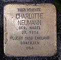 Stolperstein Motzstr 52 (Schön) Charlotte Neumann.jpg