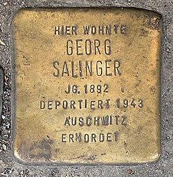 Photo of Georg Salinger brass plaque