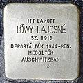 Stolperstein für Jajosne Löwy (Miskolc).jpg