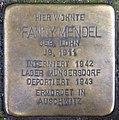 Stolpersteine Köln, Fanny Mendel (Aachener Straße 67).jpg