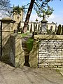 Stone stile churchyard entrance to St Edmund's Church, Castleton, Derbyshire.jpg