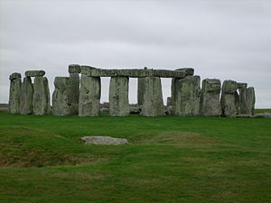Ancient monument - Stonehenge is one of the most famous prehistoric ancient monuments.
