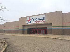Rolling Acres Mall - Storage of America (former Target) at Rolling Acres Mall in March 2014
