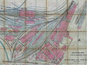 Stratford Works - Railway lines around Stratford with associated works and engine sheds (1914)