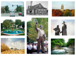 Images representing the city of Streator, Illinois.