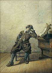 A Young Student at His Desk: Melancholy