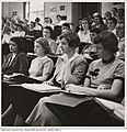 Students in Harvard Radcliffe Program in Business Administration lecture, 1953-1954 (13083906223).jpg