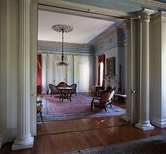 Sturdivant Hall - View from drawing room into rear parlor