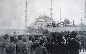 Occupation of Smyrna - Turks demonstrate in Constantinople for national unity.
