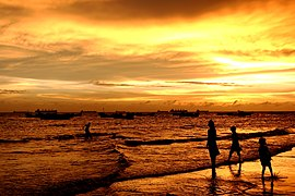Sunset patenga sea beach.JPG