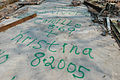 Survivors of hurricane Katrina leave a message for visitors on the floor of their destroyed house in Biloxi 14600.jpg