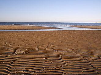 Sutton, Dublin - Burrow Beach at Sutton, Dublin, looking north towards Lambay Island