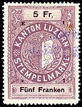Switzerland Lucerne 1897 revenue 6 5Fr - 65 - E 1 97.jpg