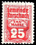 Switzerland Rorschach 1909 revenue 25c - 4.jpg