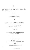 Synopsis Of Science From The Standpoint Of Nyaya Philosophy - Ballantyne - 1852 - Volume 2.pdf