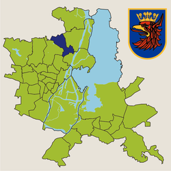 Location of Bukowo within Szczecin