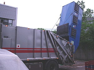 Garbage truck - 14.5 m3 rear load container serviced in Copenhagen