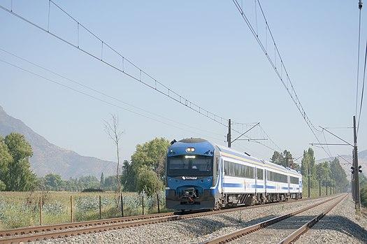 Поезд «TerraSur» в направлении города Чильян