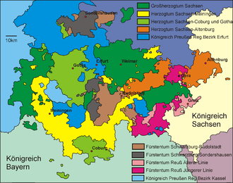 Thuringian states - The Thuringian States in 1910