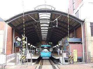 Sangen-Jaya Station Railway and tram station in Tokyo, Japan