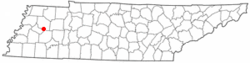 Location of Humboldt, Tennessee
