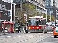 TTC streetcar visible by Dundas Square, 2015 12 01 (14) (22851425704).jpg