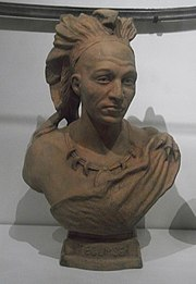 Tecumseh bust at the Royal Ontario Museum