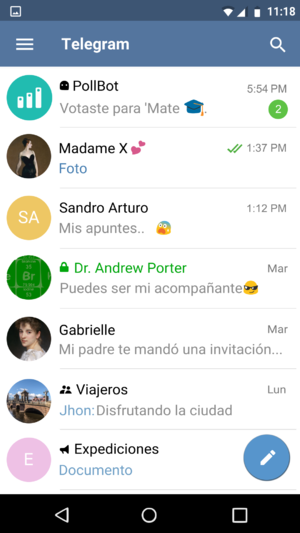 Telegram Android screenshot (v 3.3, Spanish).png