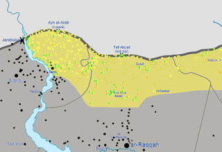 Tell Abyad region post-offensive