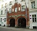 Terracotta-Doppelportal der ehemaligen Handwerkervereinshaus (1905) - Eingang Die Sophiensäle - Former house of the Craftsmen's Association - Berlin - panoramio.jpg