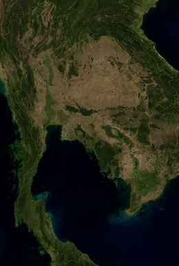 Satellite image of Thailand