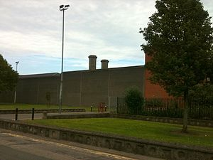 Mountjoy Prison - Mountjoy Prison, seen from Devery's Lane.
